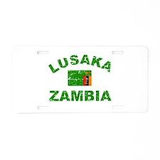 Lusaka Zambia designs Aluminum License Plate