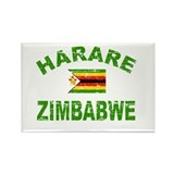 Harare Zimbabwe designs Rectangle Magnet