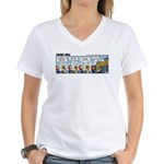 0554 - Give me your wallet Women's V-Neck T-Shirt