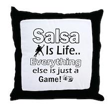 Salsa Is Life Designs Throw Pillow