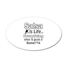 Salsa Is Life Designs 22x14 Oval Wall Peel