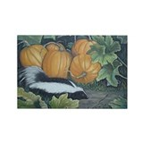 Trick or Treat Skunk Mouse Rectangle Magnet