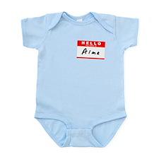 Alma, Name Tag Sticker Infant Bodysuit
