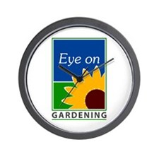 Eye on Gardening TV Wall Clock