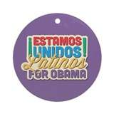 Latinos For Obama Ornament (Round)
