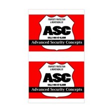 Security System Rectangle Decal