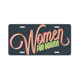 Women For Obama Aluminum License Plate