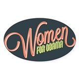 Women For Obama Decal