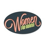 Women For Obama 38.5 x 24.5 Oval Wall Peel