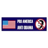 Pro America Anti Obama Bumper Sticker