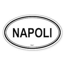 Napoli, Italy euro Oval Decal