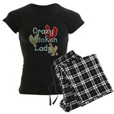 Crazy Chicken Lady Pajamas