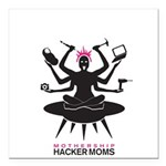 Mothership HackerMoms Logo Square Car Magnet 3