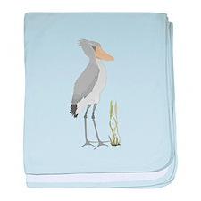 Shoebill Stork baby blanket