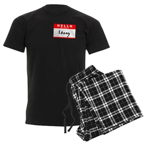 Ebony, Name Tag Sticker Men's Dark Pajamas