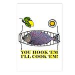 You Hook 'Em Fishing Postcards (Package of 8)