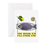 You Hook 'Em Fishing Greeting Cards (Pk of 10)