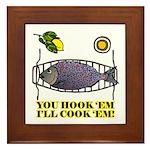 You Hook 'Em Fishing Framed Tile
