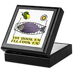 You Hook 'Em Fishing Keepsake Box