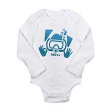 idive ok blue glass.png Long Sleeve Infant Bodysui
