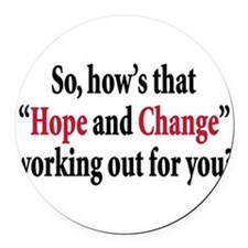 hope and change bumper sticker(red).png Round Car