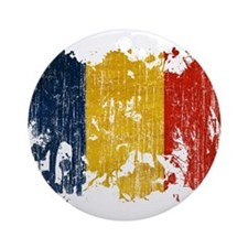 Romania Flag Ornament (Round)