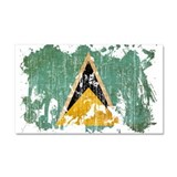 Saint Lucia Flag Car Magnet 20 x 12