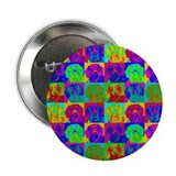 "Op Art Doxie 2.25"" Button (100 pack)"