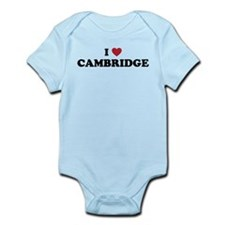 I Love Cambridge Mass Infant Bodysuit
