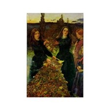 Autumn Leaves, Millais Rectangle Magnet