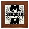 Soccer Mom (cross).png Framed Tile