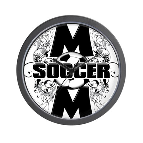 Soccer Mom (cross).png Wall Clock