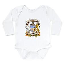 Kaniac Crest English Motto Long Sleeve Infant Body