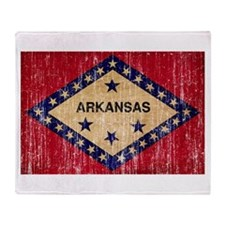Arkansas textured aged copy.png Throw Blanket