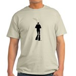 Scuba Diver Silhouette (M) Light T-Shirt