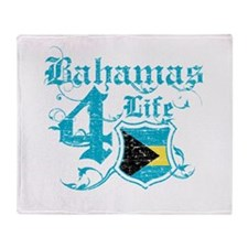 Bahamas for life designs Throw Blanket