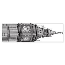 London Big Ben Bumper Sticker