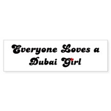 Loves Dubai Girl Bumper Bumper Sticker