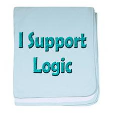 I Support Logic baby blanket