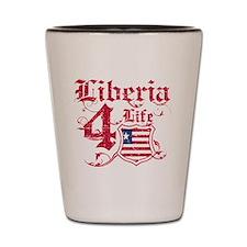 Liberia for life designs Shot Glass