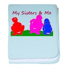 Funny Brothers and sisters baby blanket