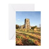 Spring Churchyard Greeting Card