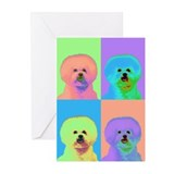 Op Art Bichon Greeting Cards (Pk of 10)