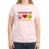 Personalize Girls Softball T-Shirt