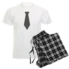Gray Silk Tie Pajamas