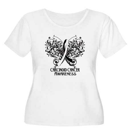 Butterfly Carcinoid Cancer Women's Plus Size Scoop