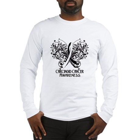 Butterfly Carcinoid Cancer Long Sleeve T-Shirt