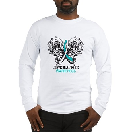 Butterfly Cervical Cancer Long Sleeve T-Shirt
