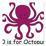 Octopus10.png Square Car Magnet 3