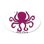 Octopus10.png Oval Car Magnet